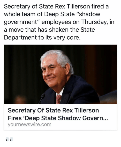 Image result for rex tillerson shaking the State Department