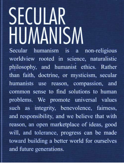 worldview paper secular humanist worldview