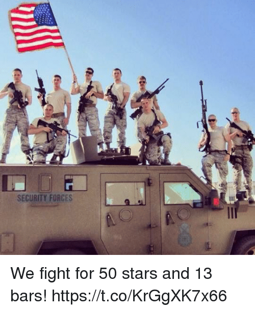 Memes, Stars, and Fight: SECURITY FORCES We fight for 50 stars and 13 bars! https://t.co/KrGgXK7x66