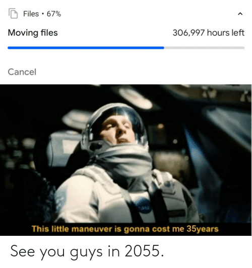 see you: See you guys in 2055.