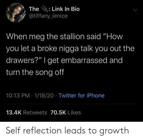 reflection: Self reflection leads to growth