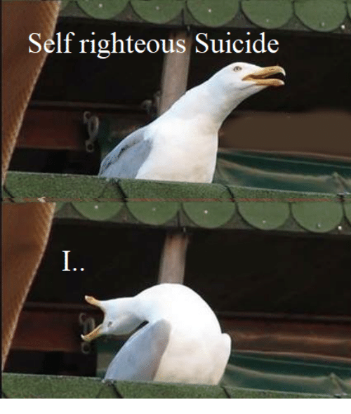 Suicide, Righteous, and Self: Self righteous Suicide