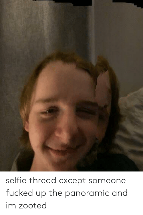Zooted: selfie thread except someone fucked up the panoramic and im zooted