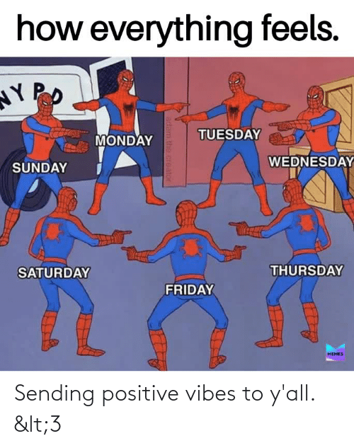 sending positive vibes: Sending positive vibes to y'all. <3