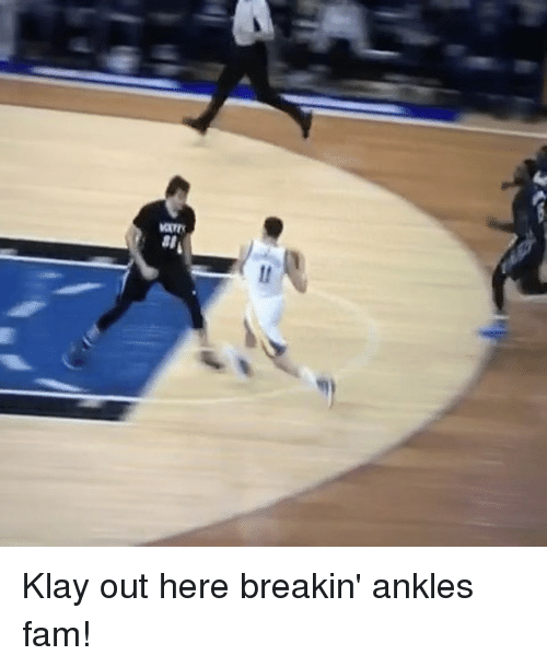 Basketball, Golden State Warriors, and Sports: seo Klay out here breakin' ankles fam!