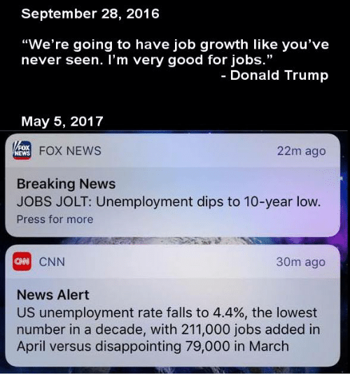 Trump Tax Cuts Job Growth: 25+ Best Memes About Unemployment Rate