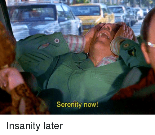Memes, Insanity, and 🤖: Serenity now! Insanity later