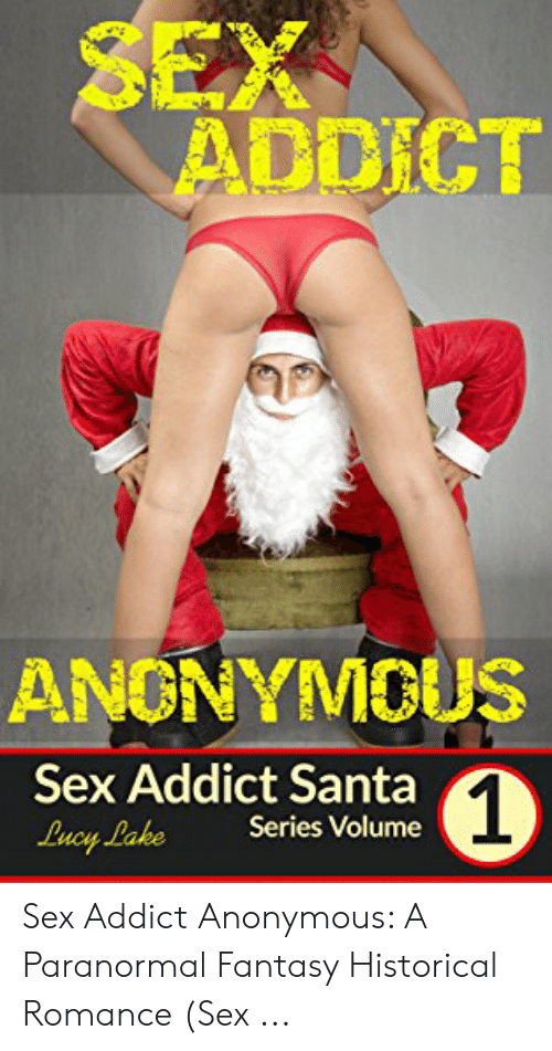 Shows a parody pic of Santa as a sex addict, looking at the crotch of a woman in bikini