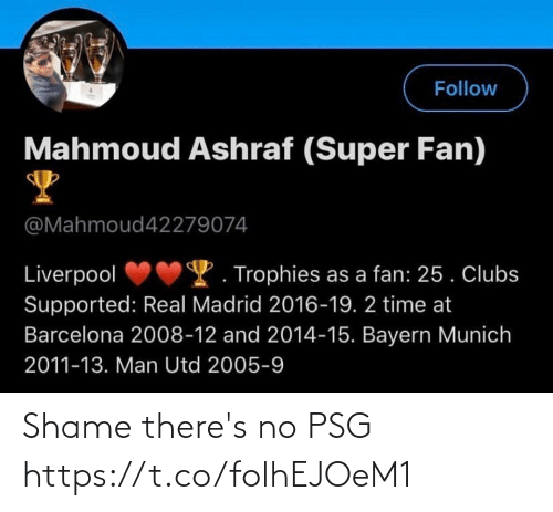 Theres: Shame there's no PSG  https://t.co/folhEJOeM1