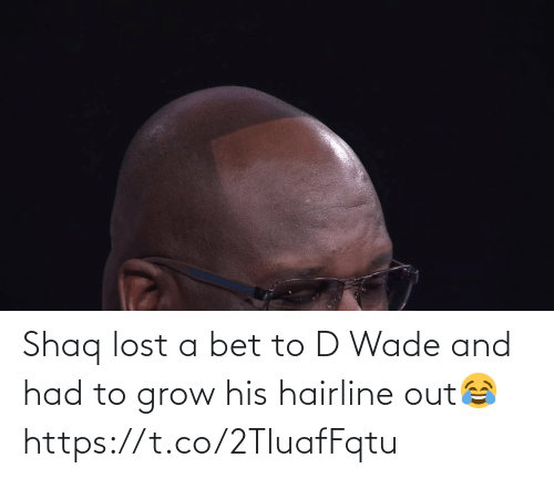 d wade: Shaq lost a bet to D Wade and had to grow his hairline out😂 https://t.co/2TIuafFqtu