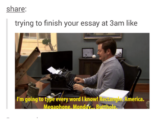 to finish an essay