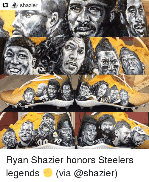 Sports, Steelers, and Legend: shazier Ryan Shazier honors Steelers legends ✊️ (via @shazier)