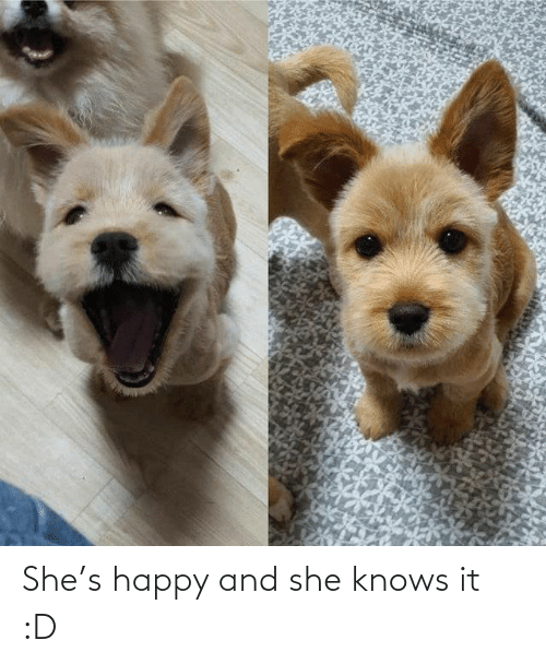 Knows: She's happy and she knows it :D