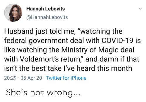 Not Wrong: She's not wrong…