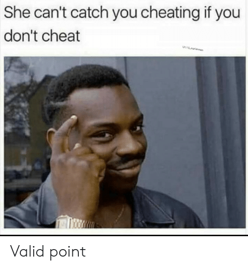 Valid Point: She can't catch you cheating if you  don't cheat  w115 malksman Valid point