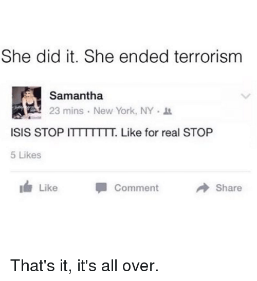 She Did It