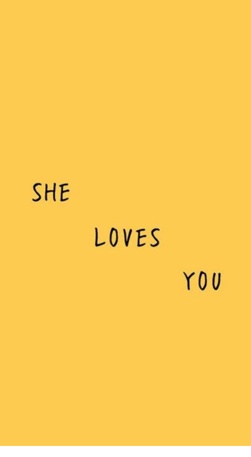 She, You, and Loves: SHE  LOVES  YOU