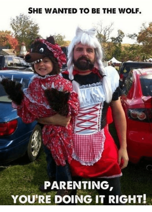 Parenting Youre Doing It Right: SHE WANTED TO BE THE WOLF.  PARENTING  YOU'RE DOING IT RIGHT!
