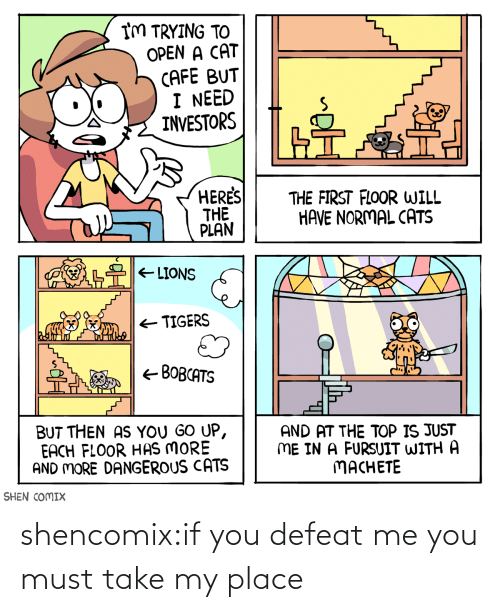 You Must: shencomix:if you defeat me you must take my place