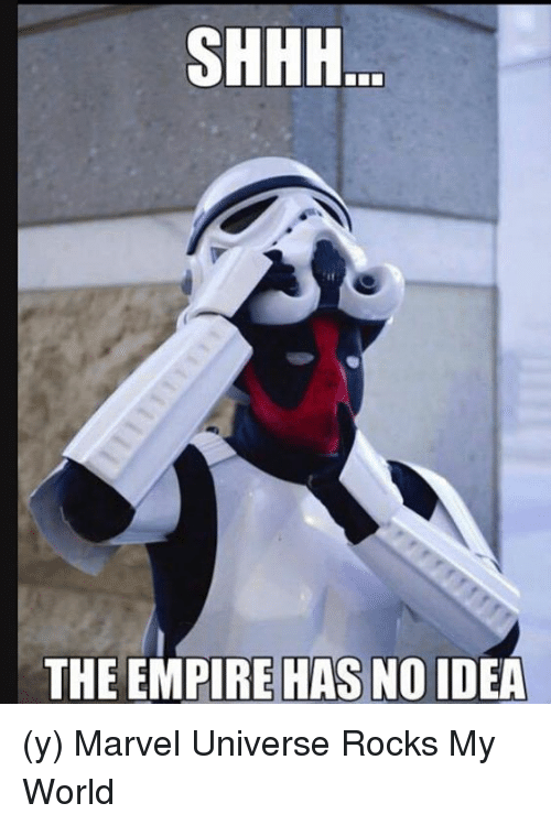 empirical: SHHH  THE EMPIRE HAS NO IDEA (y) Marvel Universe Rocks My World