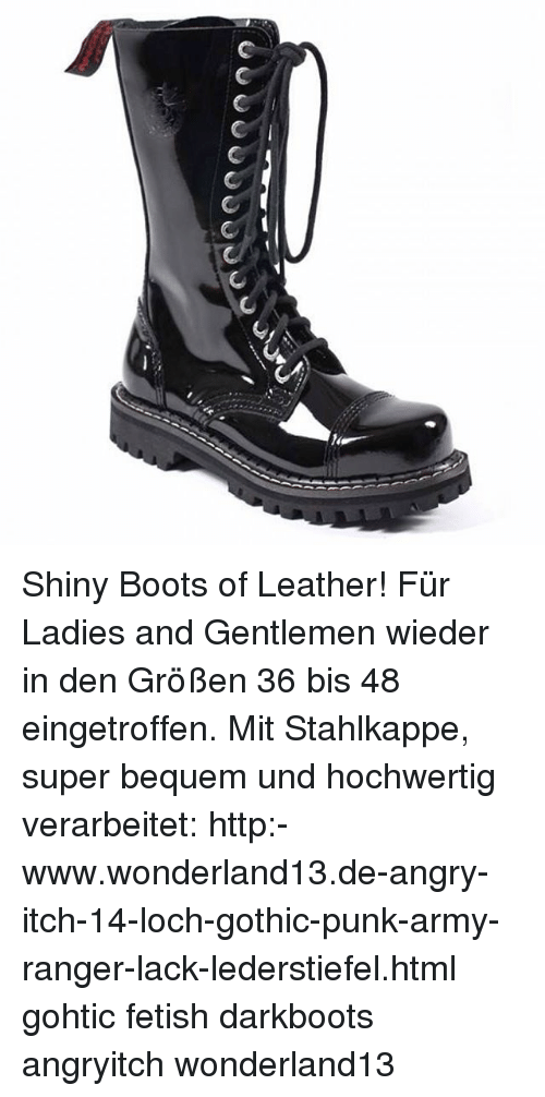 ANGRY ITCH 8 Loch Gothic Punk Army Ranger Armee Leder Stiefel mit Stahlkappe