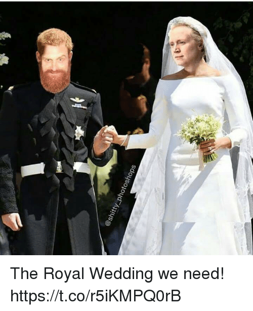 Wedding, Shitty, and  Need: @shitty photoshops The Royal Wedding we need! https://t.co/r5iKMPQ0rB