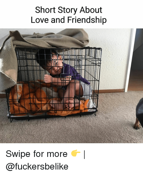 Funny, Friendship, and Swipely: Short Story About  Love and Friendship  NIIN Swipe for more 👉 | @fuckersbelike