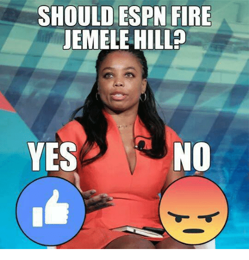 Espn, Fire, and Nfl: SHOULD ESPN FIRE  JEMELE HILL?  YESNO