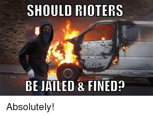 Memes, 🤖, and Absolutely: SHOULD RIOTERS  BE JAILED & FINED Absolutely!