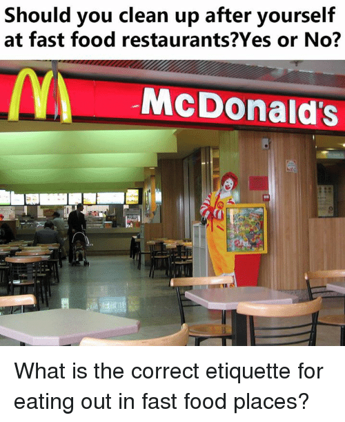 Fast food cleanup