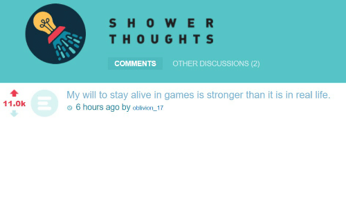 Shower Thought