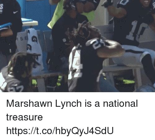 Marshawn Lynch: Si Marshawn Lynch is a national treasure   https://t.co/hbyQyJ4SdU