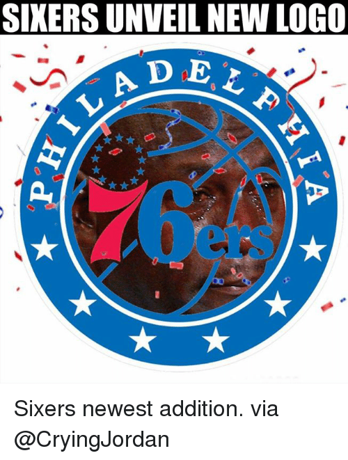 Nba, Sixers, and Logo: SIKERS UNVEIL NEW LOGO  0  ers Sixers newest addition.  via @CryingJordan