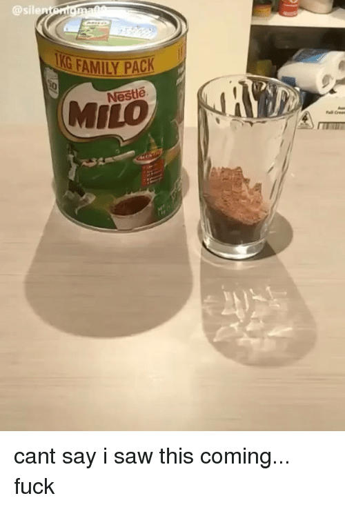 milo: @sile  G FAMILY PACK  Nestle  MILO cant say i saw this coming... fuck