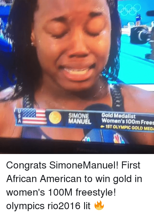 SIMONE Gold Medalist MANUEL Women's 100m Frees 1STOLYMPIC ...