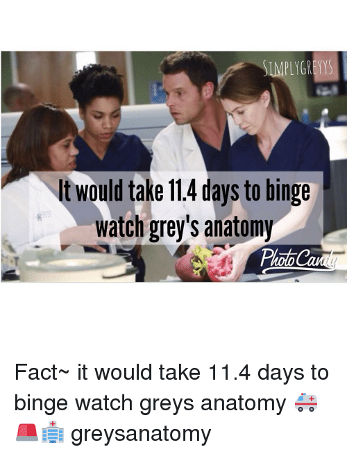 SIMPLY GREYYS Would Take 114 Days to Binge Watch Grey\'s Anatomy Fact ...