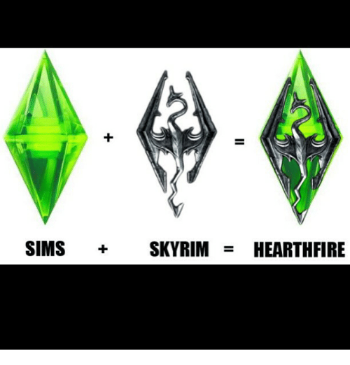 Image result for skyrim  sims meme