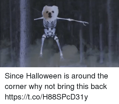 bringed: Since Halloween is around the corner why not bring this back https://t.co/H88SPcD31y