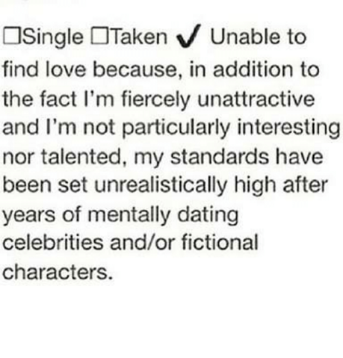 Single taken mentally dating an anime character
