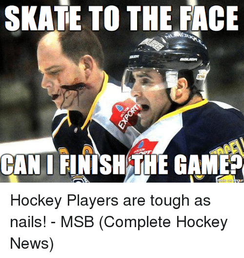 Skate: SKATE TO THE FACE  CAN I FINISH THE GAME? Hockey Players are tough as nails! - MSB (Complete Hockey News)
