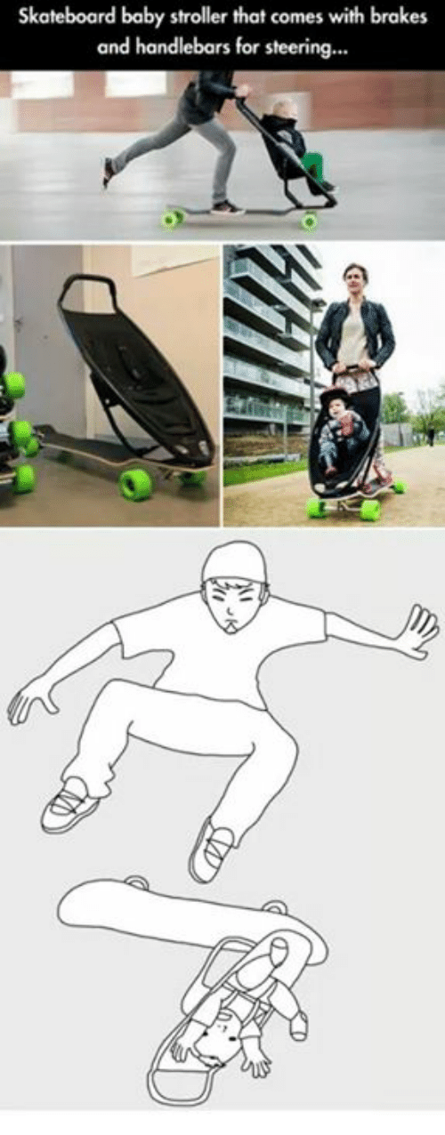 skateboard-baby-stroller-that-comes-with-brakes-and-handlebars-for-4425043.png