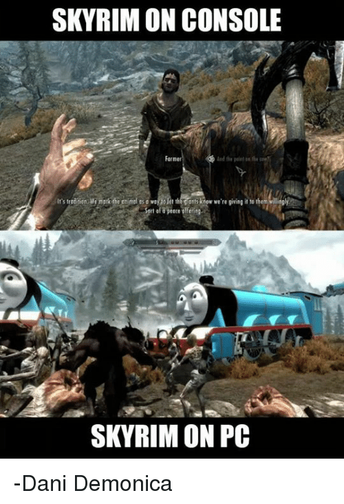 Memes Paintings And Skyrim SKYRIM ON CONSOLE Farmer The Paint Inthe Use