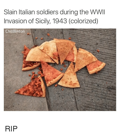 Italian Soldiers: Slain Italian soldiers during the WWII  Invasion of Sicily, 1943 (colorized)  Chill Blinton RIP