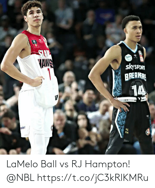 Slav: SLAV  AWS  1  skysPORT  BREAVERE  14  ON  w LaMelo Ball vs RJ Hampton! @NBL https://t.co/jC3kRlKMRu