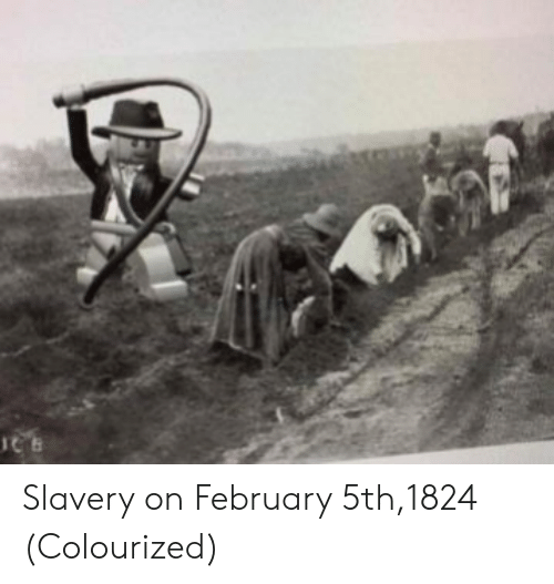 Colourized: Slavery on February 5th,1824 (Colourized)