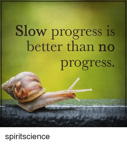 Spirit Science: Slow progress is  better than no  progress  Spirit Science spiritscience