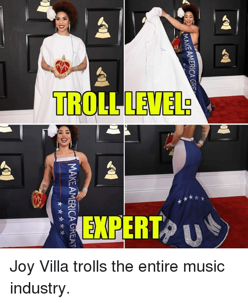 industrious: SMAKEAMERICA GRS  MAKE AMERICA GREAT Joy Villa trolls the entire music industry.