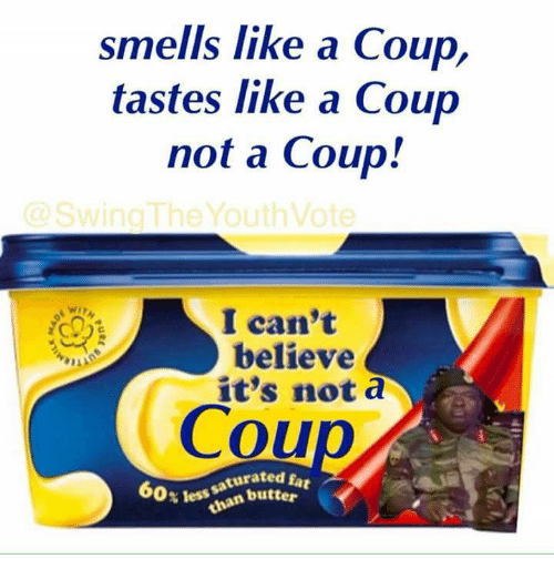 Memes, 🤖, and Believe: smells like a Coup,  tastes like a Coup  not a Coup!  WI  8  I can't  believe  it's not a  Cou  0x less han butter  turated fa