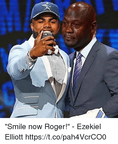 "ezekiel-elliott: ""Smile now Roger!"" - Ezekiel Elliott https://t.co/pah4VcrCO0"