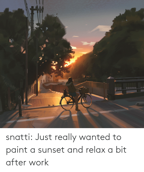 relax: snatti:   Just really wanted to paint a sunset and relax a bit after work